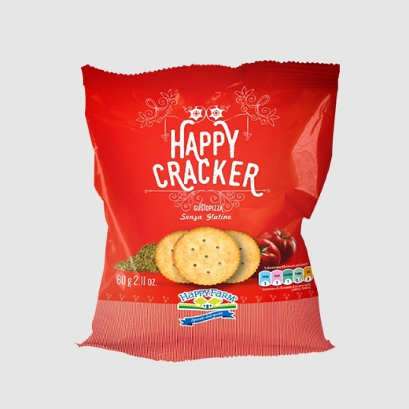 Happy Crackers gusto pizza per celiaci