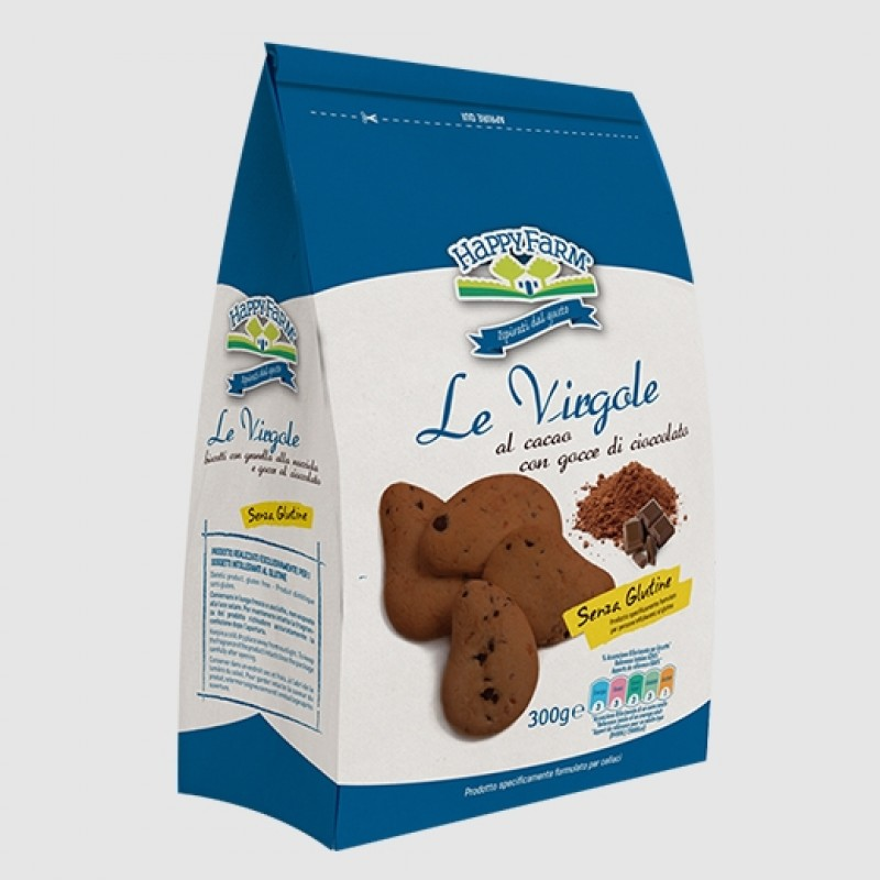 Le Virgole al cacao con gocce di cioccolato